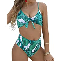 JFan Donna Costumi da Bagno Sexy Vita Alta Imbottito Reggiseno Bikini Cinturino Pettorale Due Pezzi Swimwear Abiti da…