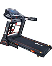 Powermax Fitness TDA-230M (2.0 HP), Semi-Auto Lubrication, Motorized Treadmill with Massager, Dumbbells, Sit-up & Twister (Free Installation Service)