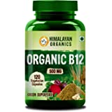 Himalayan Organics Organic Vitamin B12 Certified Organic & Natural 120 Veg Capsules
