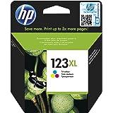 خرطوشة حبر أصلية HP 123XL ثلاثية الألوان (ازرق سماوي، أرجواني، أصفر) - F6V18AE