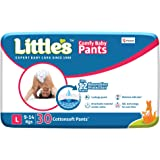Little's Baby Pants Diapers with Wetness Indicator and 12 Hours Absorption, Large (9 - 14 kg), 30 Count