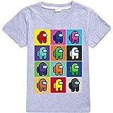 Among US - Camiseta de manga corta para niños y niñas, de algodón