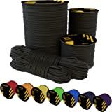 EdcX Nylon Paracord 550 (15, 30, 50, 100 and 300 m) – 4 mm Type III, Tear-Resistant Parachute Cord for Survival Made of 100%