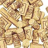 CODIRATO 100 PCS Corchos de Vino Tapones de Botella Natural Corcho Natural de Madera Corcho para Manualidades para Vino Tinto