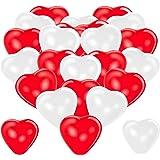 Premium Herzluftballons Rot Weiß 50 Stück. Je 25 Luftballons. XL Größe 30cm. Die Ballons mit edler Herzform dienen als hochwe