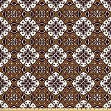 ABAKUHAUS Schokolade Stoff als Meterware, Batik