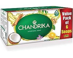 Chandrika Ayurvedic Handmade Soap, 125g (Pack of 6)