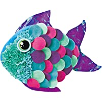 POOPHUNS DIY Oreiller, Loisirs Créatifs, Coussin à Décorer, Petit Poisson 3D à Customiser