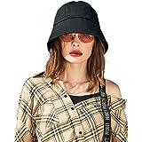 CACUSS Cappello da Sole Donna Bucket Cappello Pescatore UPF50+ Pieghevole con sottogola Viaggio Spiaggia Esterno Cappellino M