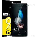 NEW'C Verre Trempé pour Huawei P8 Lite, Film Protection écran - Anti Rayures - sans Bulles d'air -Ultra Résistant (0,33mm HD Ultra Transparent) Dureté 9H Glass
