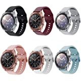 Compatible for Galaxy Watch 3 41mm Bands, 6 Pack 20mm Silicone Replacement Sport Watch Wristband Strap Compatible for Samsung