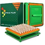 Wananfu - Capsule vulmachine 00 met gedetailleerde instructies, 100 gaten, gebruik met lege gelatine of vegetarische capsules