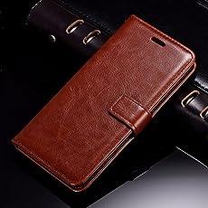Thinkzy Leather Flip Cover for Redmi 5/Mi Redmi 5(Brown)