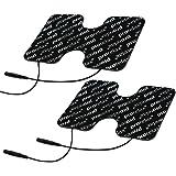 Prorelax 49108 Blackline elektrodenpads reservepads voor Tens + EMS-apparaten, voor elektrische spierstimulatie