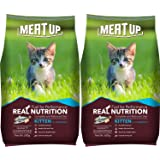 Meat Up Kitten (1-12 Months) Dry Cat Food, Ocean Fish, 600g (Buy 1 Get 1 Free)