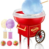 Machine à Barbe à Papa, 500W Candy Floss Maker Design Rétro Cotton Candy Machine pour Maison, Fêtes, Festivals ,Fete…