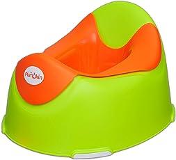 Little Pumpkin Plastic Kingdom Potty Seat for Kids (Green & Orange_ 6 Months-3 Yrs)