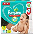Pampers All round Protection Pants, Small size baby diapers (SM) 86 Count, Lotion with Aloe Vera