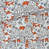 Takoy Jerseystoff Füchse im Wald Patchwork Stoffe