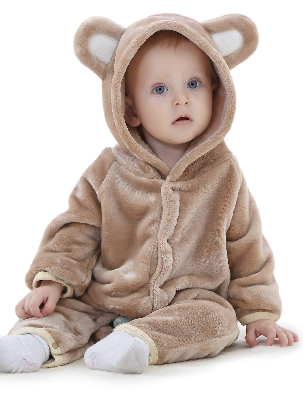 Adorel Pelele Buzo Pijama Manta con Capucha para Bebés Niño 2