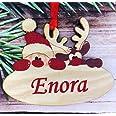 Gravure Events Décoration de Sapin en Bois personnalisée avec Votre prénom (Un Joli Cadeau, Une Alternative à la Boule de Noë