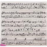 Mentin Partition De Musique Tampons Clairs Transparents En Silicone PVC Pour DIY Loisirs Créatifs Cadeau Noel Enfant