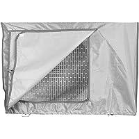 Housse imperméable pour unité extérieure de climatiseur, anti-poussière et anti-neige XL(90x40x70cm) Gris argent