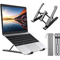 ZEINZE Support Ordinateur Portable, Support PC Portable à 6 Niveaux d'angles Réglables, Laptop Stand Ergonomique Léger…