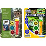 Natural History Museum N5130 Dinosaur Torch & Projector & Brainstorm Toys BSE2012 Animal Torch & Projector,