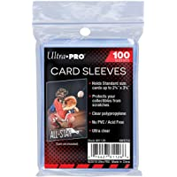 Ultra Pro Soft Card Sleeves 100 pack 2 5/8 x 3 5/8 inches Standard Size Trading Card Games Clear (100 (1 pack))