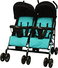 R for Rabbit Ginny and Johnny – The Twin Stroller and Pram (Blue Black)