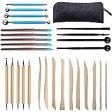 Aokyom 28 PCS Outils de Sculpture, Ensemble D'outils en Argile Outil de Poterie Kit Sculpture Outils en Argile Polymère pour