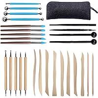 Aokyom 28 PCS Outils de Sculpture, Ensemble D'outils en Argile Outil de Poterie Kit Sculpture Outils en Argile Polymère…