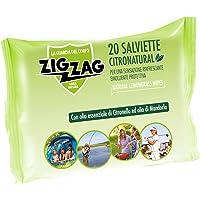 Zig Zag, Repellente, Antizanzare, Salviette Citronatural, al profumo di citronella, contiene olii essenziali di…