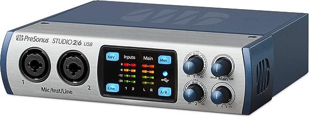 Presonus STUDIO 2 6 Ultra-High-Def (24-bit, 192 kHz) USB Audio / MIDI interfaces & Recording System (Studio 2 6)