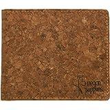 Vegan Supplies Cork Wallet, RFID Blocking, Slim Design, Bifold Purse, Wallet with Coin Pocket, Eco Friendly, Vegan