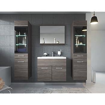 Badezimmer Barmöbel Toledo 01 60 X 35 Cm Hochglanz Grau