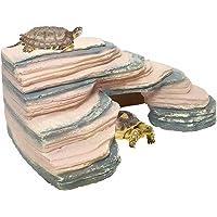 Venus Aqua® Climbing Tortoise Turtle Bridge Design Aquarium Ornaments Underwater Landscape Habitat Resin