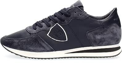 Philippe Model Sneaker Tropez X in Camoscio E Pelle Blu, Taglia UK: