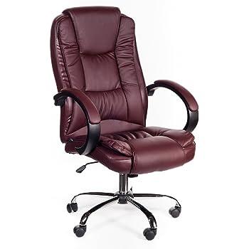 Poltrona sedia da ufficio presidenziale bordeaux studio for Poltrona massaggiante amazon