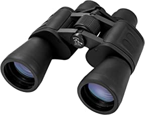 Virginpeek FMC Day Vision Binoculars High Range Telescope 20x50 Powerful BAK4 Prism Lens with Strap Carrying Bag Black