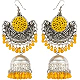Zilleria girls oxidized silver work designer earring Alloy, Metal Chandbali Earring, Jumki Earring, Drops & Danglers…