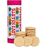 Swizzels Matlow Biscuits Swizzels Love Hearts Tin Filled with Pure Shortbread Biscuits Embossed with 'Love' & Other…