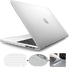 MOCA 13-Inch Hardshell Matte Front and Back Case cover A1706/A1708 with/without Touch Bar for 2016-2017 New Apple MacBook Pro(Smoky Clear)