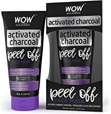 WOW Activated Charcoal Face Mask - Peel Off - No Parabens & Mineral Oils (60mL)