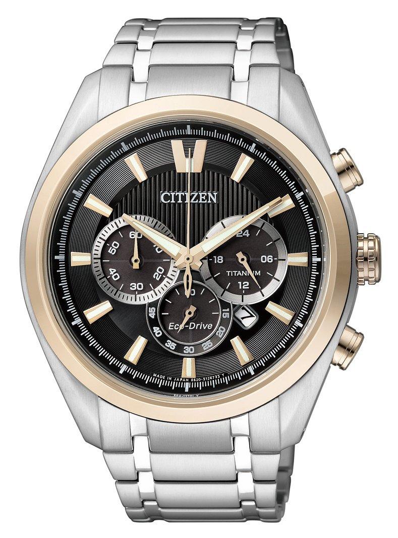 Citizen Super Titanium - Reloj de Cuarzo para Hombre, con Correa de Titanio, Color Plateado 1