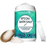 WishCare® Natural & Pure Epsom Bath Salt - 950 Gms - No Color/Fragrance/Preservatives - Muscle Pain Relief