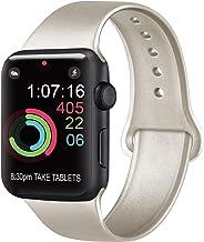 AK Compatibile Cinturino per Apple Watch 44mm 42mm 38mm 40mm, Cinturino Sport in Silicone Cinturino Uomo e Donna per iWatch S