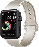 AK Compatibile Cinturino per Apple Watch 44mm 42mm 38mm 40mm, Cinturino Sport in Silicone Cinturino Uomo e Donna per...
