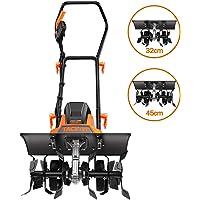TACKLIFE Electric Tiller, 1500W Rotavator, Adjustable Working Width(32-45CM), 20CM Tilling Depth, Foldable Handle, Ideal Cultivator for soil Loosening- TGTL01A